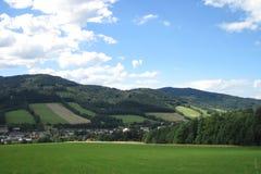 Jeseniky berg i den tidiga våren Fotografering för Bildbyråer