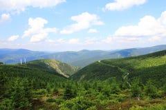 Jeseniky berg (Tjeckien) arkivfoton