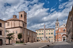 Jesi, Italy. Square in Jesi  medieval city. Region Marche, Italy Stock Images