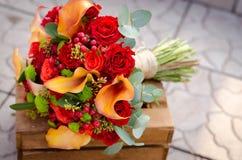 Jesień ślubu kwiaty Zdjęcie Royalty Free