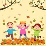 jesień żartuje bawić się Fotografia Royalty Free