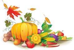 Jesień żniwo wciąż życie royalty ilustracja