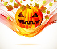 Jesień abstrakcjonistyczny Halloweenowy tło Zdjęcie Royalty Free