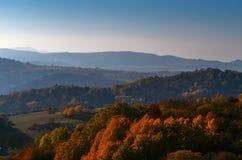 jesień błękit długa natura ocienia niebo Obrazy Stock