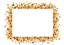 jesień błękit granicy ramy złoto opuszczać niebo ilustracji