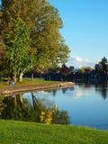 jesień błękitny jeziora nw Oregon park Zdjęcia Royalty Free