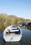 jesień balaton łódkowaty połowu jezioro Zdjęcie Royalty Free