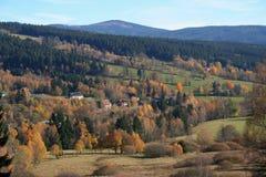 jesień barwiący ing krajobraz fotografia stock