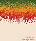 Jesień barwi mozaiki tło Tekst może dodający Zdjęcie Royalty Free