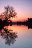 jesień berounka rzeka Zdjęcia Stock