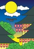 jesień chińska festiwalu ilustracja w połowie Obraz Royalty Free