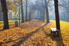 Jesień Colonade zdjęcia royalty free
