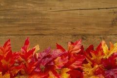 Jesień czasu tło z spadków liśćmi zdjęcie stock