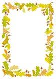 Jesień dębu ramy tło - wektorowa ilustracja ilustracja wektor