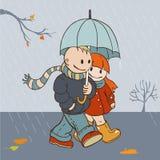 Jesień deszczowy dzień Fotografia Royalty Free