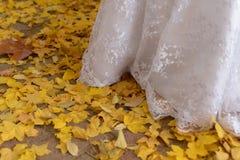 Jesień dni w akcyjnym ślubie obrazy stock