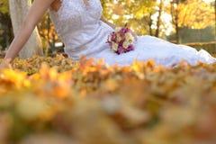 Jesień dni w akcyjnym ślubie Zdjęcia Stock