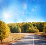 jesień droga zdjęcia stock