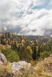 Jesień dzień w górach Obrazy Royalty Free