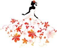 jesień dziewczyna royalty ilustracja