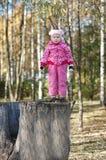 jesień dziewczyny Lin trochę park Obrazy Stock