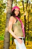 jesień dziewczyny park dosyć fotografia royalty free