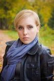jesień dziewczyny portret obrazy royalty free