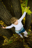 jesień dziewczyny trochę park Fotografia Royalty Free