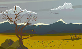 jesień elementów krajobrazowe warstwy oddzielają wektor Piękny tło Zdjęcia Stock