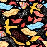 8 jesień eps kartoteka zawierać liść wzoru wektor ilustracji