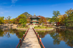 Jesień Gyeongbokgung pałac w Seul, Korea Zdjęcia Royalty Free