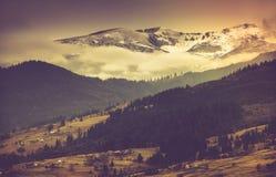 Jesień halny krajobraz Zdjęcie Stock