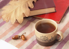 Jesień herbata Zdjęcia Royalty Free