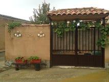 Jesień Hiszpania Santiago de camino Tradycyjne hiszpańszczyzn bramy chroniony Fotografia Stock