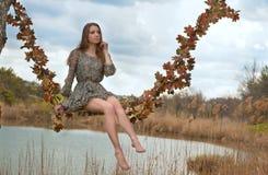 Jesień huśta się (oryginał) Fotografia Royalty Free