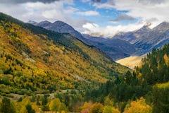 Jesień i zima kontrastujemy w zimnym dniu zdjęcia royalty free