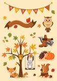 jesień ilustracja eps pełna ilustracja Fotografia Royalty Free