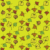 jesień ilustracyjnego liść wzoru bezszwowy wektor royalty ilustracja