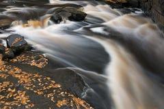 Jesień jesiotra rzeka Zdjęcia Stock