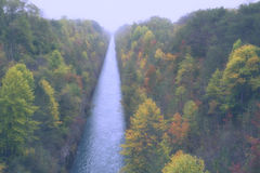 Jesień kanał Obraz Royalty Free