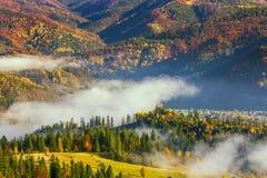 Jesień Karpacki krajobraz Fotografia Royalty Free