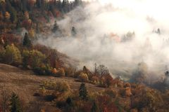 Jesień Karpacki krajobraz Zdjęcia Royalty Free