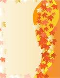 jesień karty liść Zdjęcia Stock