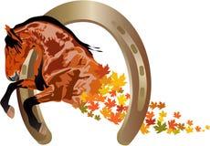 jesień koń ilustracji