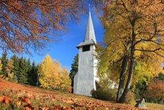 jesień kościół fotografia royalty free