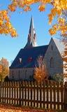 jesień kościół Zdjęcia Stock