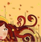 jesień kobieta Zdjęcia Stock