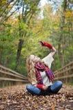 jesień kobieta fotografia royalty free