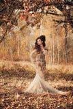 jesień kobieta piękna lasowa Zdjęcie Royalty Free