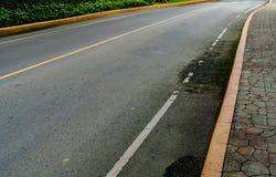 jesień kolor żółty parkowy drogowy Fotografia Royalty Free